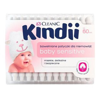 Ватные палочки Cleanic Kindii с ограничителем