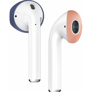 Защитные накладки для Apple AirPods (Elago Secure Fit EAP-PADSM-JINPE) (Jean Indigo/Peach)