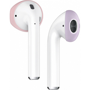 Защитные накладки для Apple AirPods (Elago Secure Fit EAP-PADSM-PKLV) (Lovely Pink/Lavender)