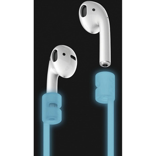 Держатель для Apple AirPods (Elago Strap ESTR-AP-LUBL) (Nightglow Blue)