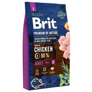 Корм для собак Brit Premium by Nature Adult S