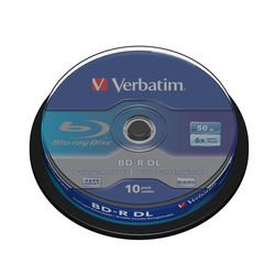 Диск BD-R DL Verbatim 50Gb 6x Cake Box (10шт) (43746)