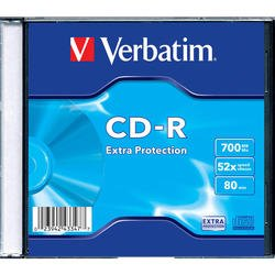 Диск CD-R Verbatim 700Mb 52x DataLife Slim (1шт) (43347)