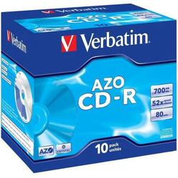 Диск CD-R Verbatim 700Mb 52x Jewel Case (10 шт) (43327)