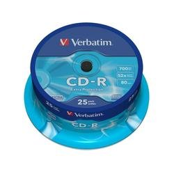 Диск CD-R Verbatim 700Mb 52x DataLife Cake Box (25 шт) (43432)