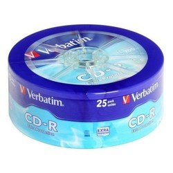Диск CD-R Verbatim 700Mb 52x Extra Protection (25 шт) (43726)