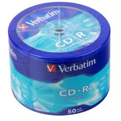 Диск CD-R Verbatim 700Mb 52x Extra Protection (50 шт) (43728)
