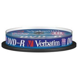Диск DVD-R Verbatim 4.7Gb 16x Cake Box (10 шт) (43523)