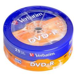 Диск DVD-R Verbatim 4.7Gb 16x AZO Matt silver Wagon wheel (25 шт) (43730)
