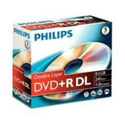 Диск DVD+R Philips 8.5Gb 8x Jewel Case (5 шт) (DR8S8J05C/97)