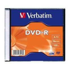 Диск DVD-R Verbatim 4.7Gb 16x Slim case (100 шт) (43547)
