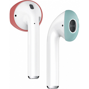 Держатель для Apple AirPods (Elago Secure Fit EAP-PADSM-IROCBL) (Italian Rose/Coral Blue)
