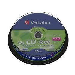 Диск CD-R Verbatim 700Mb 10x Cake Box (10 шт) (43480)