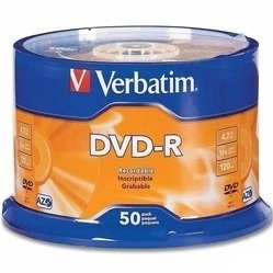 Диск DVD-R Verbatim 4.7Gb 16х  AZO matt silver Wagon wheel Cake Box (43731) (50шт)