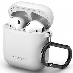 Чехол для Apple AirPods (Spigen Silicone Case 066CS24809) (белый)