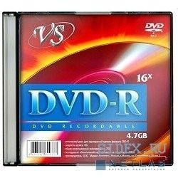 Диск VS DVD-R 4.7Gb 16x Slim Case (5шт) (VSDVDRSL501)